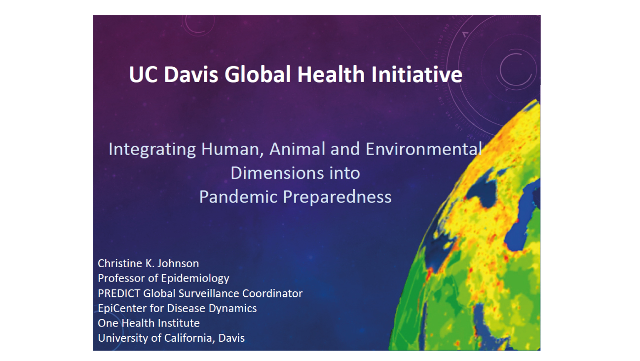 Integrating Human, Animal and Environmental Dimensions into Pandemic Preparedness