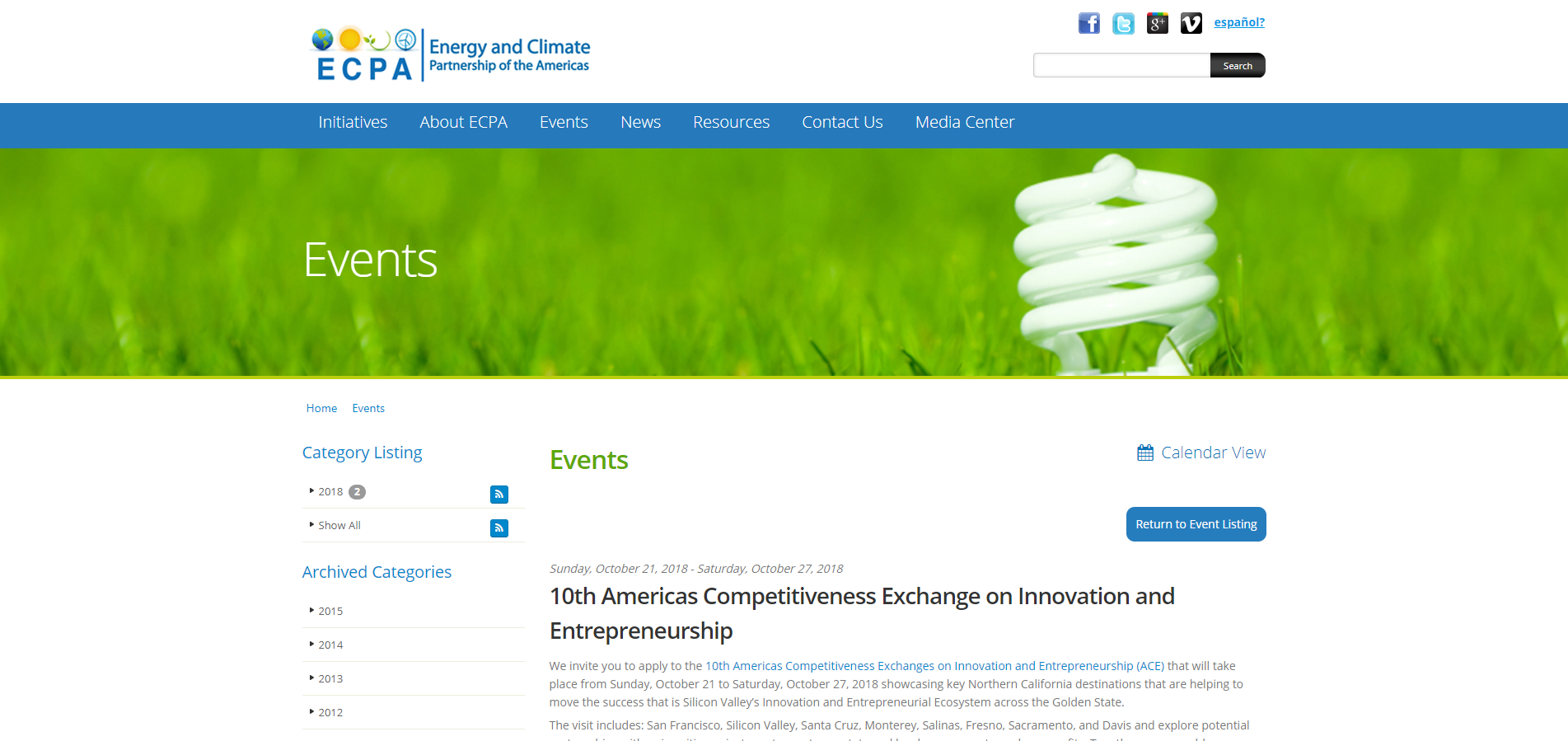 10th Americas Competitiveness Exchange on Innovation and Entrepreneurship