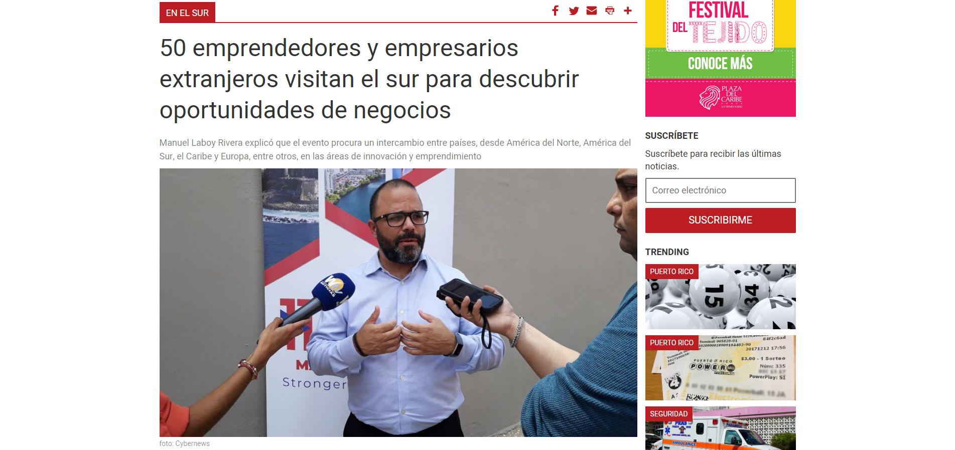 """""""50 emprendedores y empresarios extranjeros visitan el sur para descubrir oportunidades de negocios"""", La Perla del Sur, May 22, 2019,"""