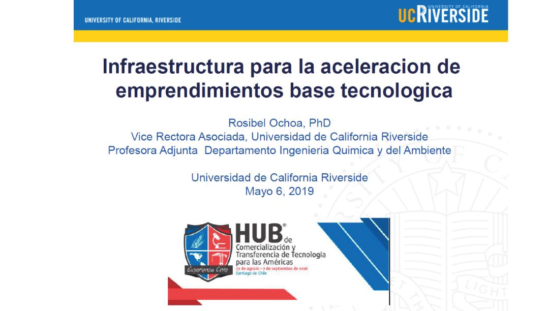 Infraestructura para la aceleración de emprendimientos base tecnológica