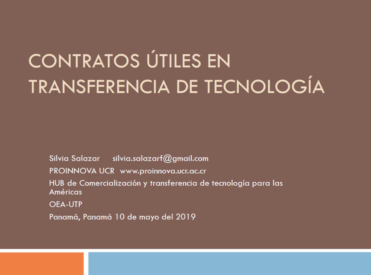 Contratos Útiles en Transferencia de Tecnología